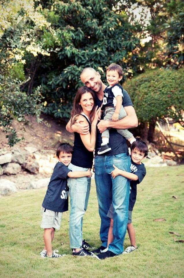 Manu Gin 243 Bili Amp His Family Spurs Baby Manu Ginobili