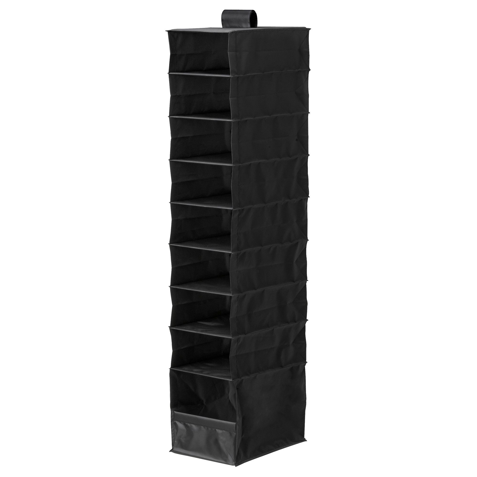Ikea Skubb Organizer With 9 Compartments Black The Hook And Loop Fastener Makes It Easy To Hang Up Move