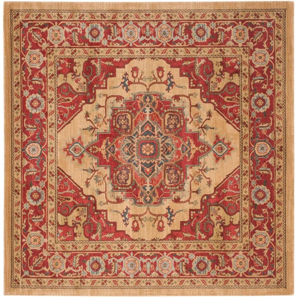 Safavieh Mahal Red Natural 10 Ft X 14 Ft Area Rug Mah698a 10 The Home Depot Traditional Area Rugs Oriental Area Rugs Square Area Rugs