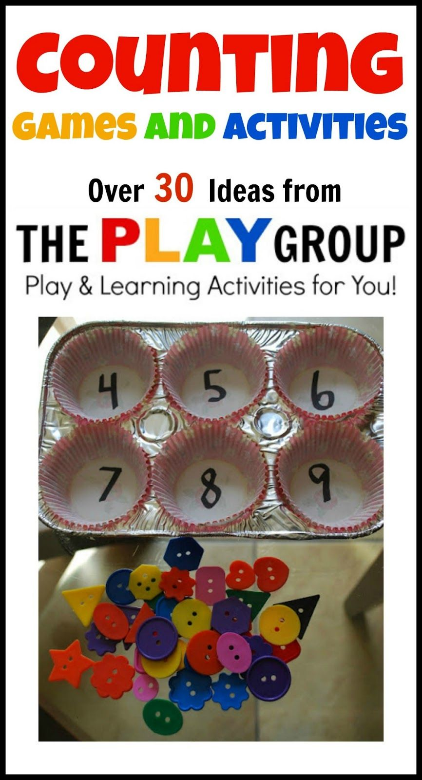 Counting Games and Activities Numbers preschool, Math