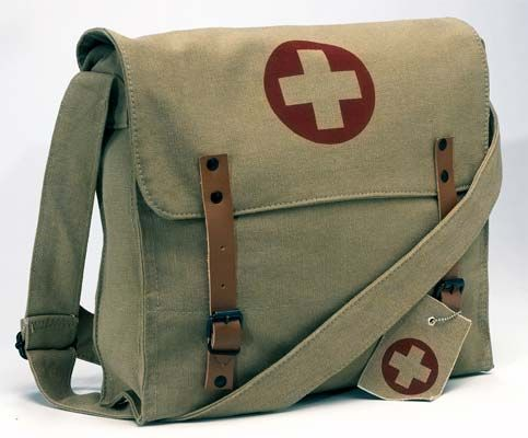 Vintage Army Medic Messenger Bag