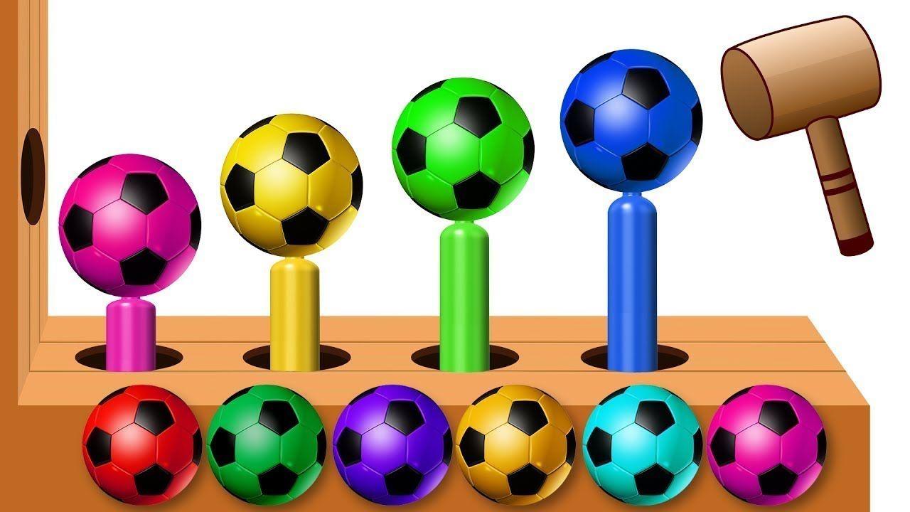 تعلم الألوان مع كرات كرة القدم المطرقة الخشبية للأطفال Learn Colors With Soccer Balls Wooden Hammer Xylophone For Children Desserts Food Cake