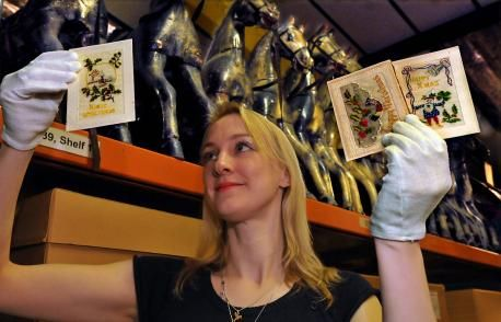Our Documentation Assistant Helen Thornton looks at our collection of First World War Christmas cards (image courtesy of Gazette & Herald).