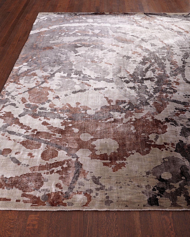Delora Rug, 10' x 14', Gray / Copper