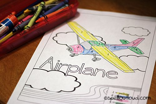 Coloring Pages Airplanes Preschool : Learning about being attentive plus free airplane coloring page