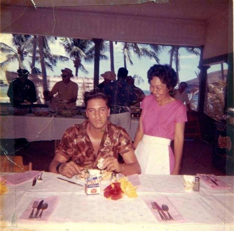 "Elvis Presley during filming of ""Blue Hawaii"" (March 27 - May 23, 1961) 