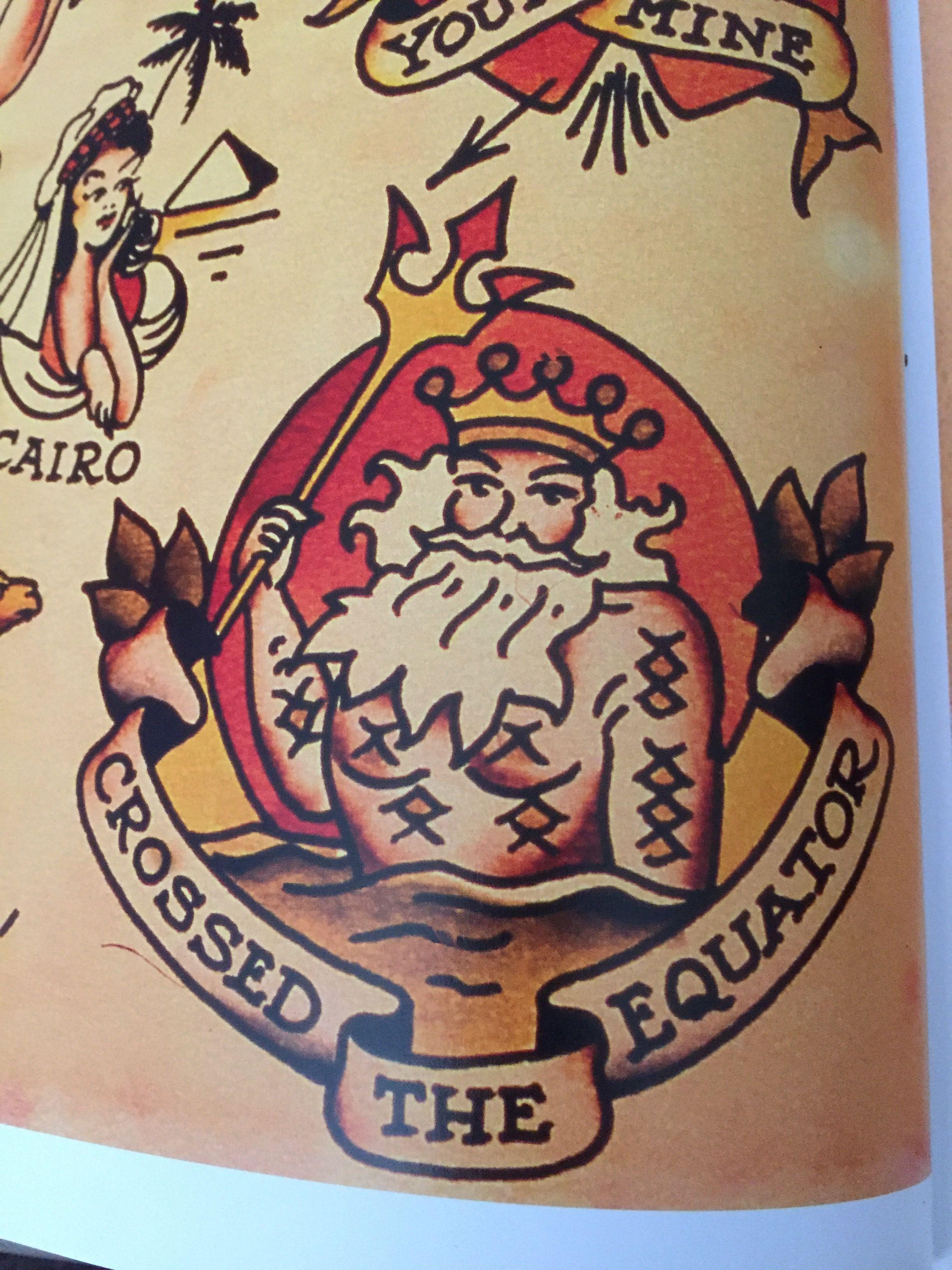 caf75ed4ab2 Sailor Jerry King Neptune equator   Tattoo   Traditional tattoo ...