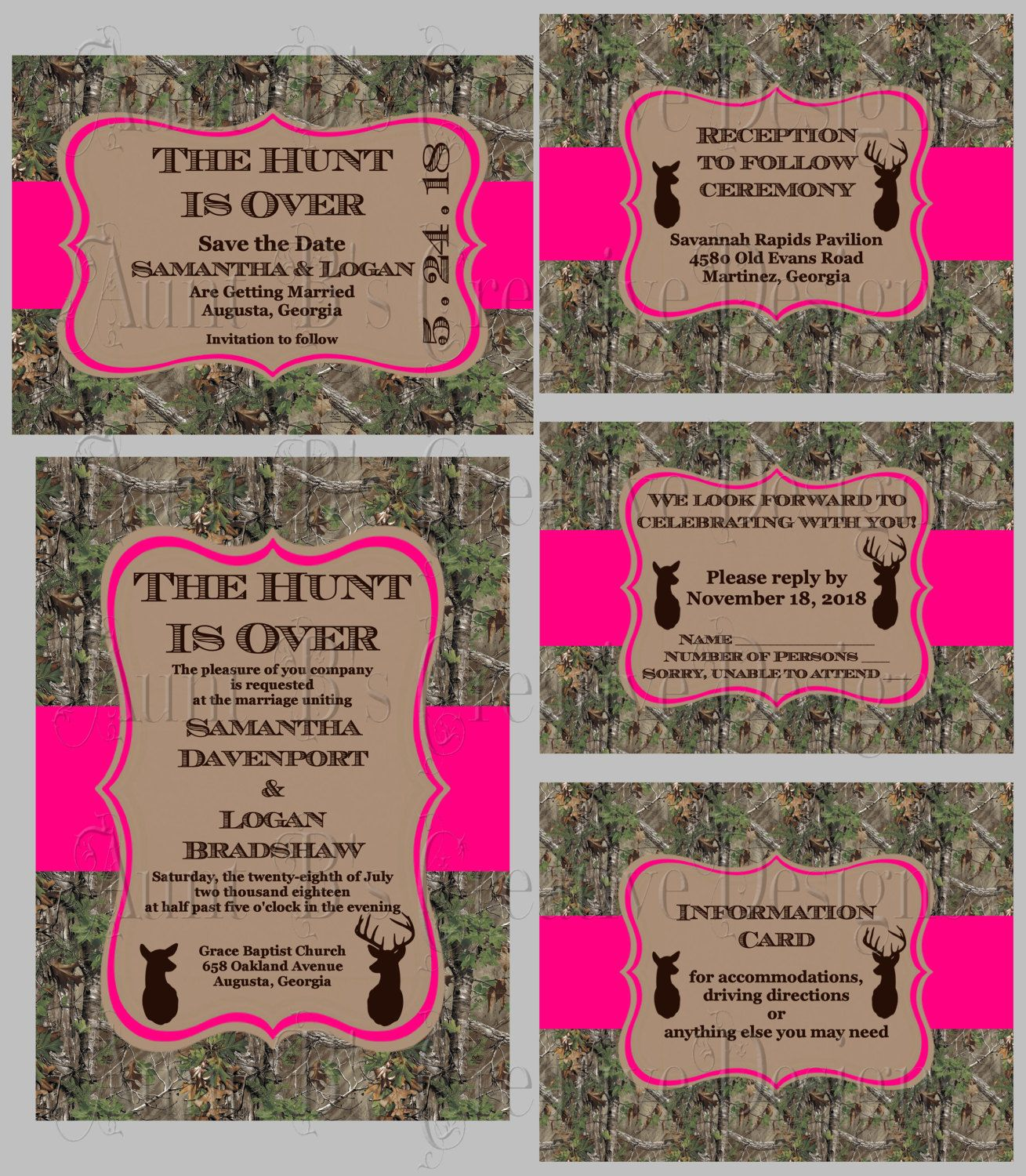 Camo The Hunt Is Over Wedding Invitation, Camo The Hunt Is