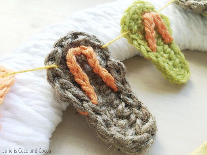 Crochet Flip-Flop Applique | Apliques