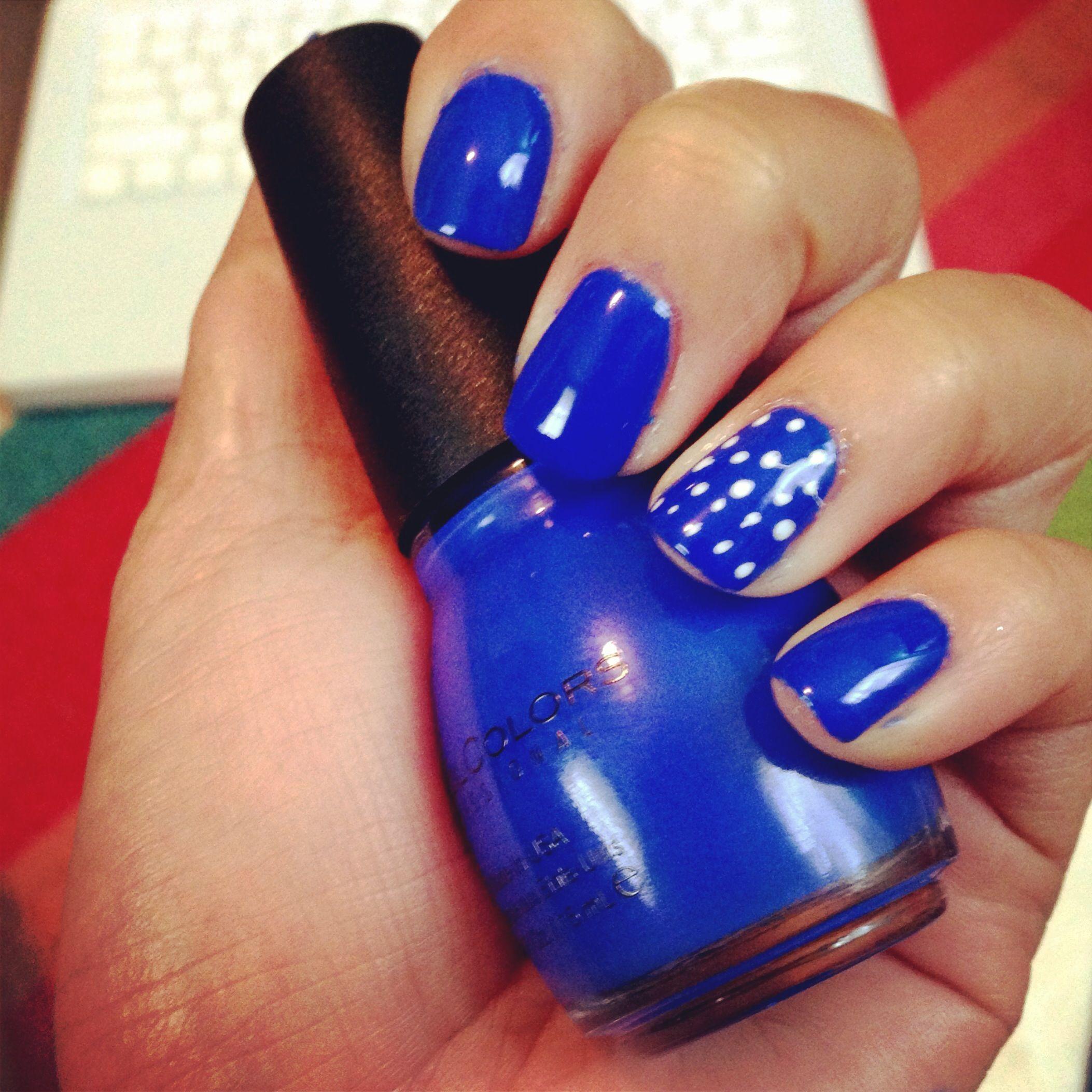 Nail Art Designs Royal Blue: Nail Art. Royal Blue!