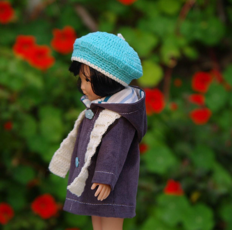 Vêtements veste chapeau écharpe pour poupée 33 cm type les chéries de corolle