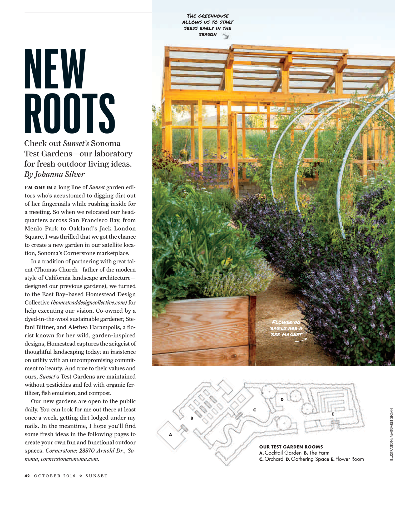 The greenhouse collective - Sunset Magazine Showcases Its New Sonoma Test Gardens Designed And Maintained By The Homestead Design