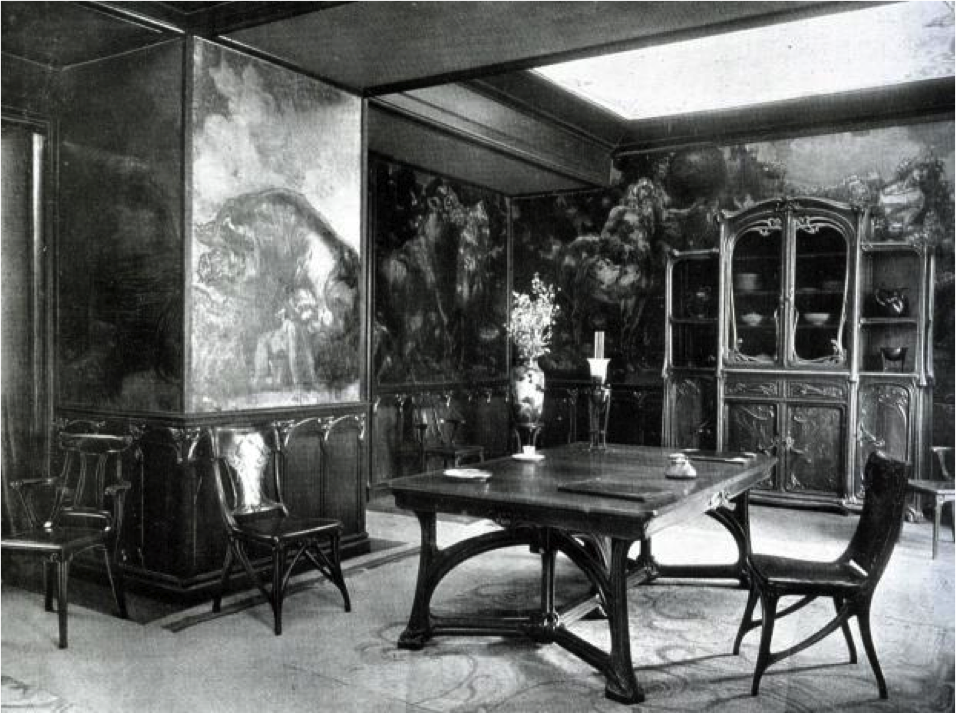 Eugene Gaillard Dining Room LArt Nouveau Bing Exposition Universelle