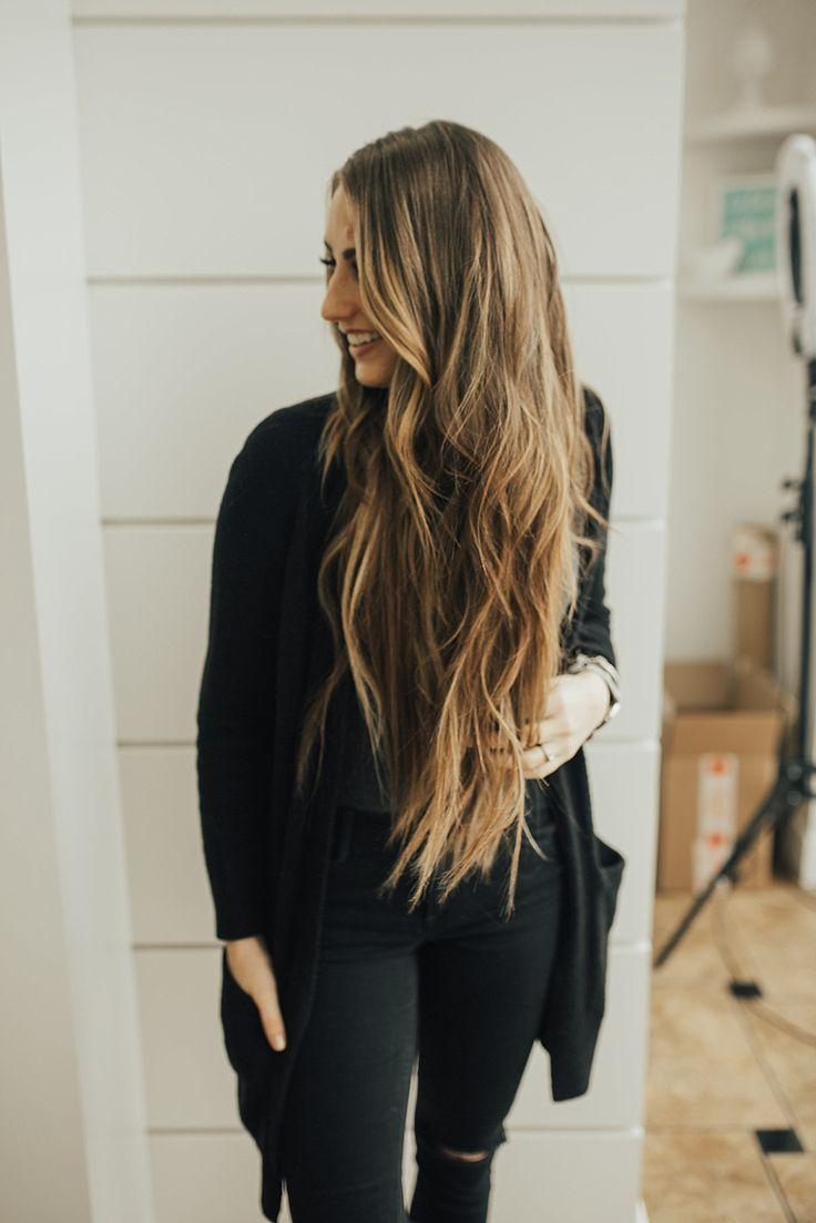 Beaded Hair Extensions Installation Pinterest Long Brown Hair