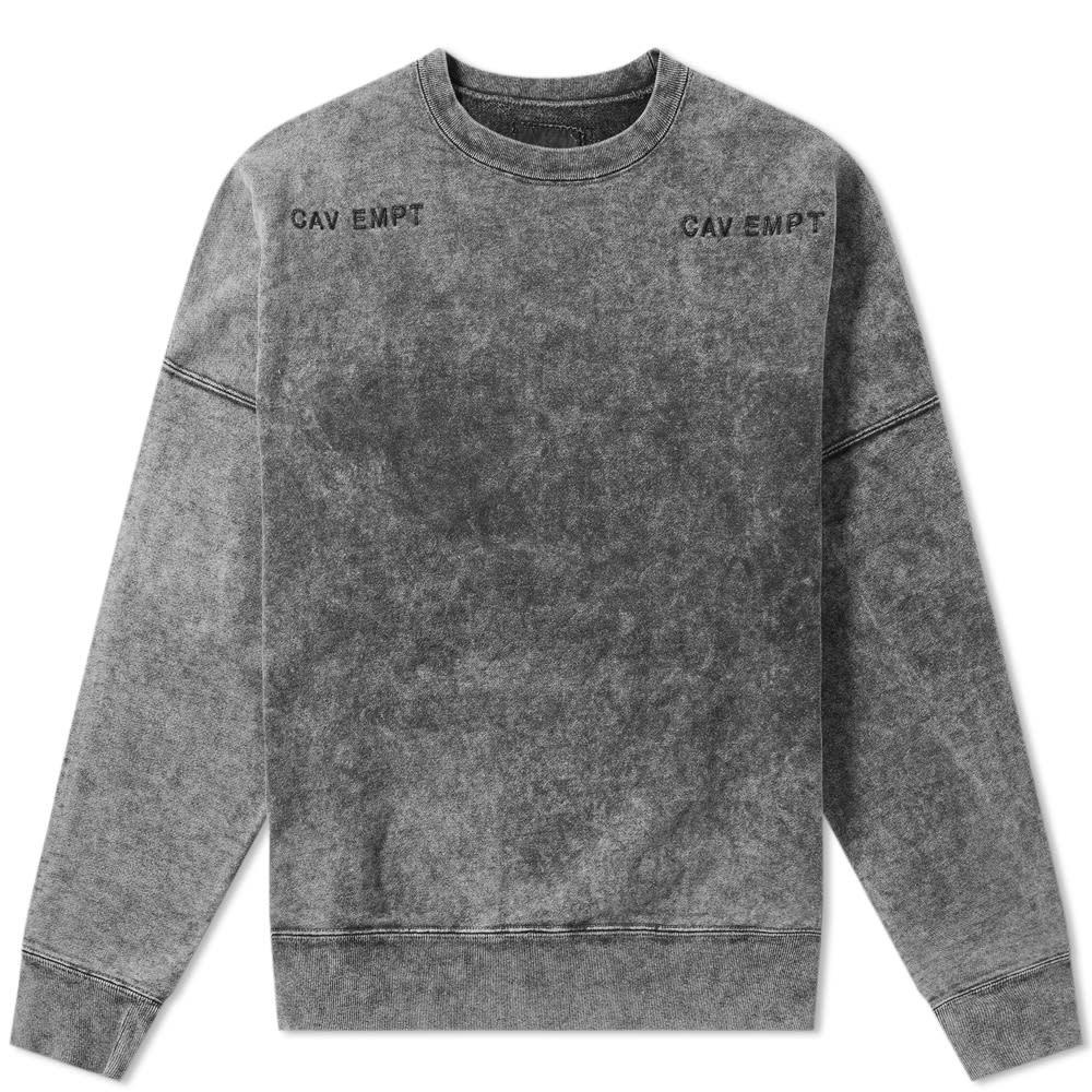 Cav empt bleach wash crew sweat bleach wash mens