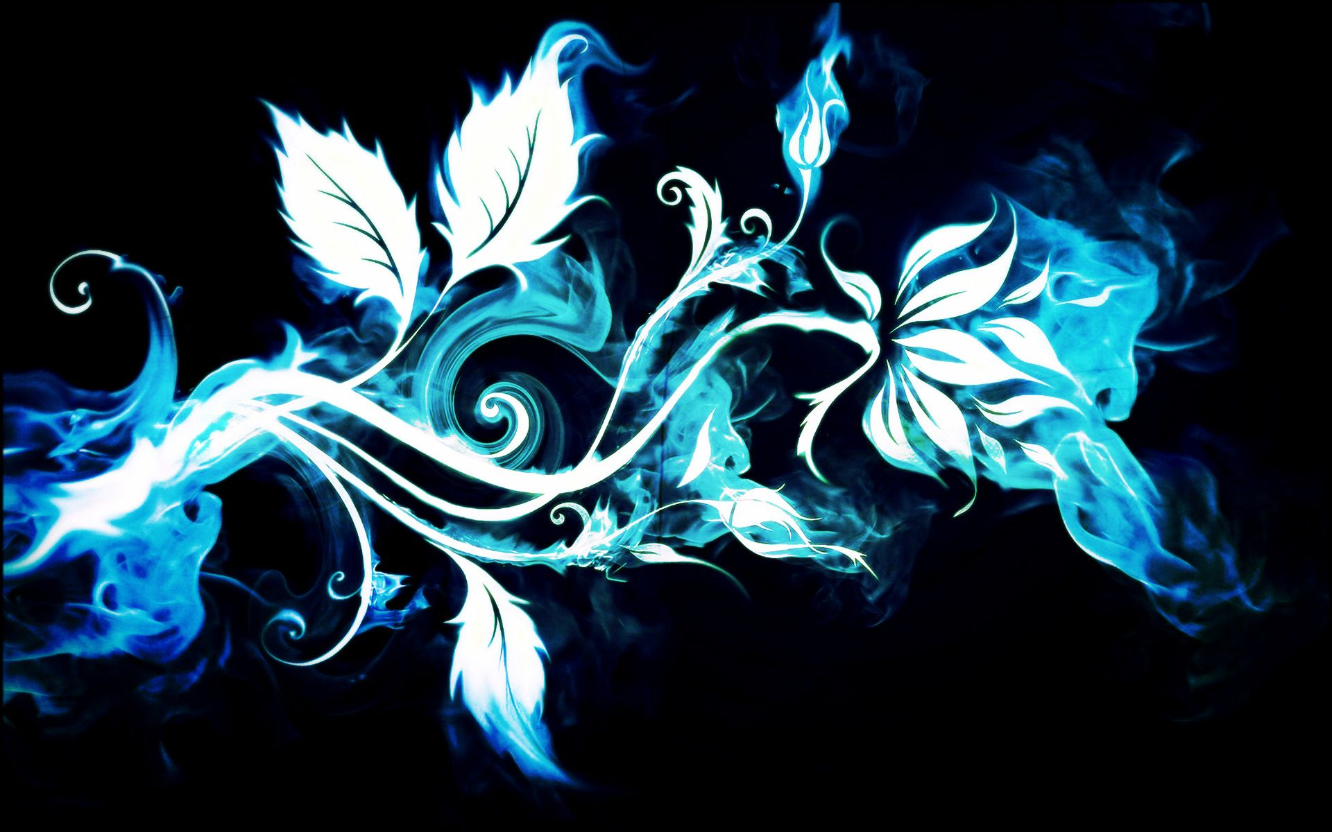 Artistic flower abstract blue smoke wallpaper asztali s mobil artistic flower abstract blue smoke wallpaper izmirmasajfo