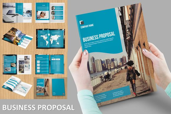 Modern Business Proposal by Template Shop on Creative Market - best proposal templates
