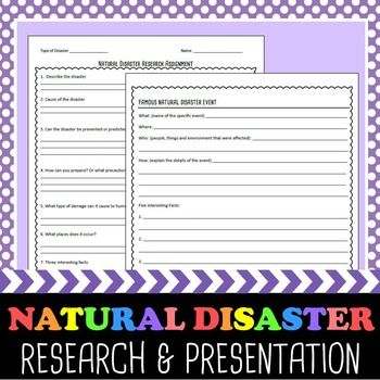Natural Disasters Research and Presentation Project Natural - project presentation