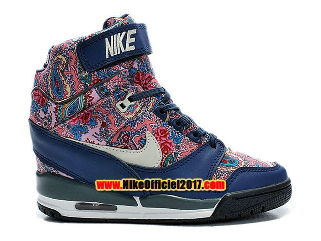 hot sales 5af93 0fab5 Nike Air Revolution Sky Hi Liberty London QS Chaussure Montante Nike Pas  Cher Pour Femme 632181