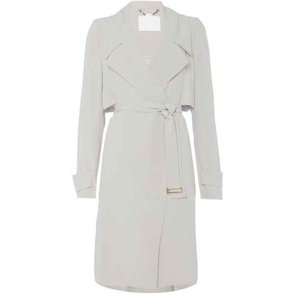 hugo boss celiana drapey belted smart trench coat 500 liked on polyvore featuring outerwear. Black Bedroom Furniture Sets. Home Design Ideas