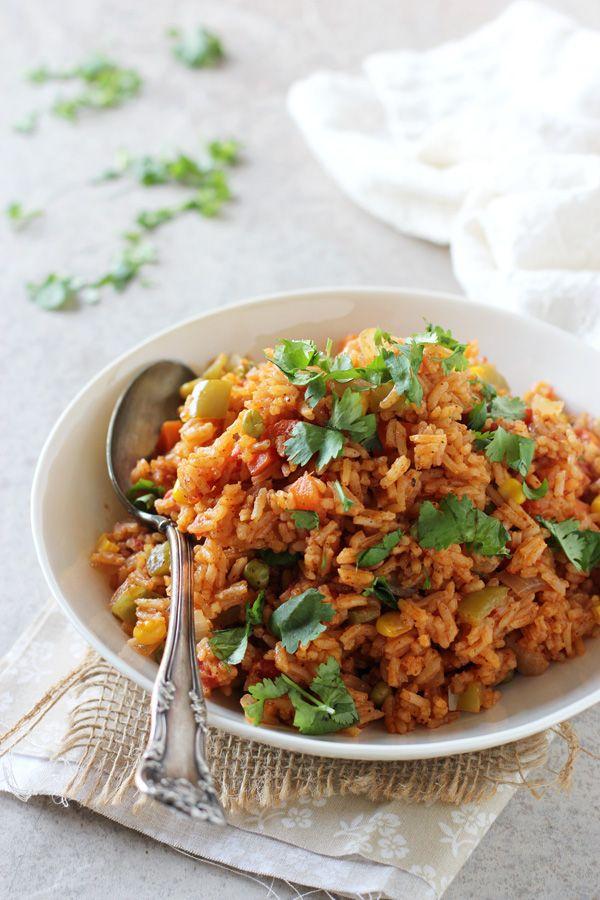 Veggie Packed Spanish Rice Recipe By Oh My Veggies Recipe Rice Recipes Vegan Spanish Rice Recipe Vegetarian Recipes