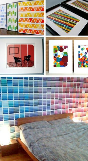 Wall Art To Make With Paint Chips Paint Chip Art Chip Art