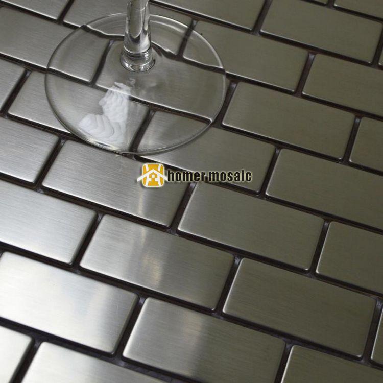 Streifen Muster Edelstahl Mosaik Fliesen Mesh montiert Für Bad ...