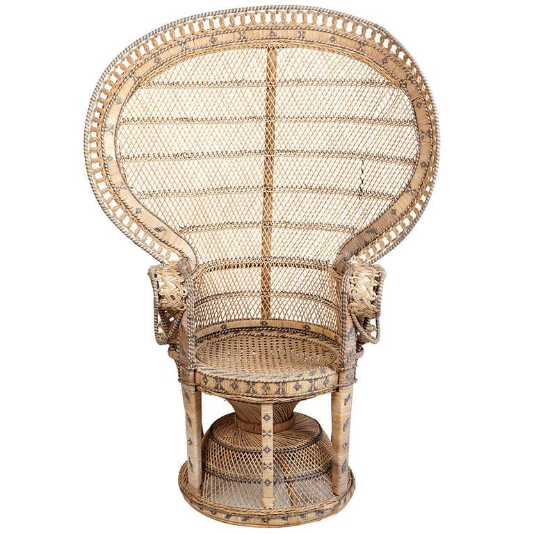 Wicker Throne Chair 1stdibs Com Wicker Peacock Chair Club Chairs