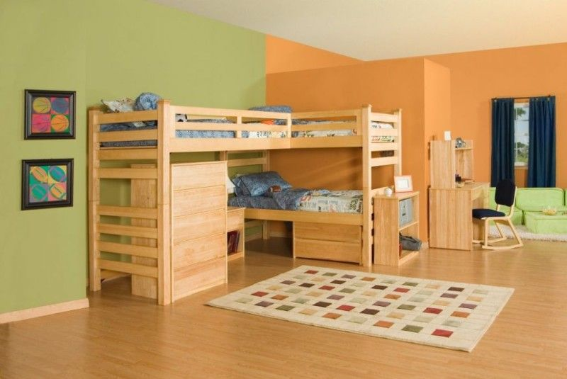 Rustic Theme Bunk Bed Sets For Kids