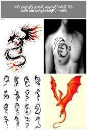 Photo of Oberen Brust Jungs Tribal Dragon Tattoos Drachen Tattoo 60 Tribal Dragon Tattoo …