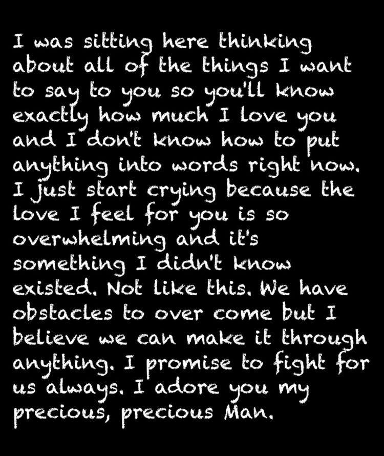 Precies zoals ik het voel ik kan er niets aan toevoegen behalve dat ik heel erg veel van je hou...... Maar dat wist je al❤❤❤