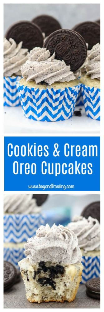 Cookies and Cream Oreo Cupcakes - Beyond Frosting