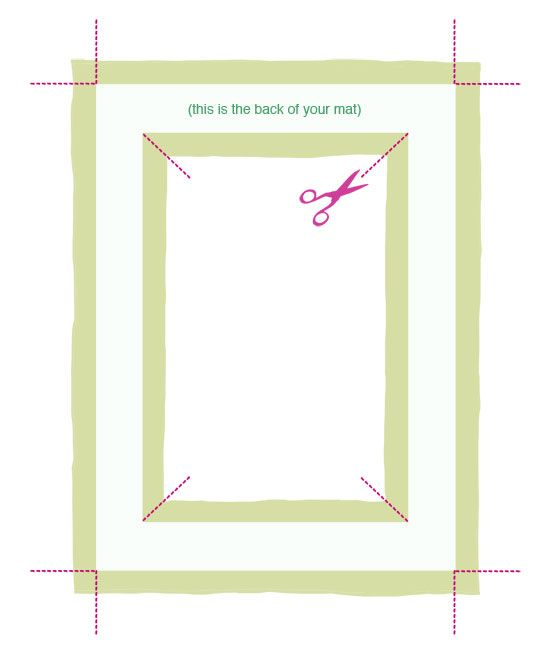 Рисунок в рамке паспарту