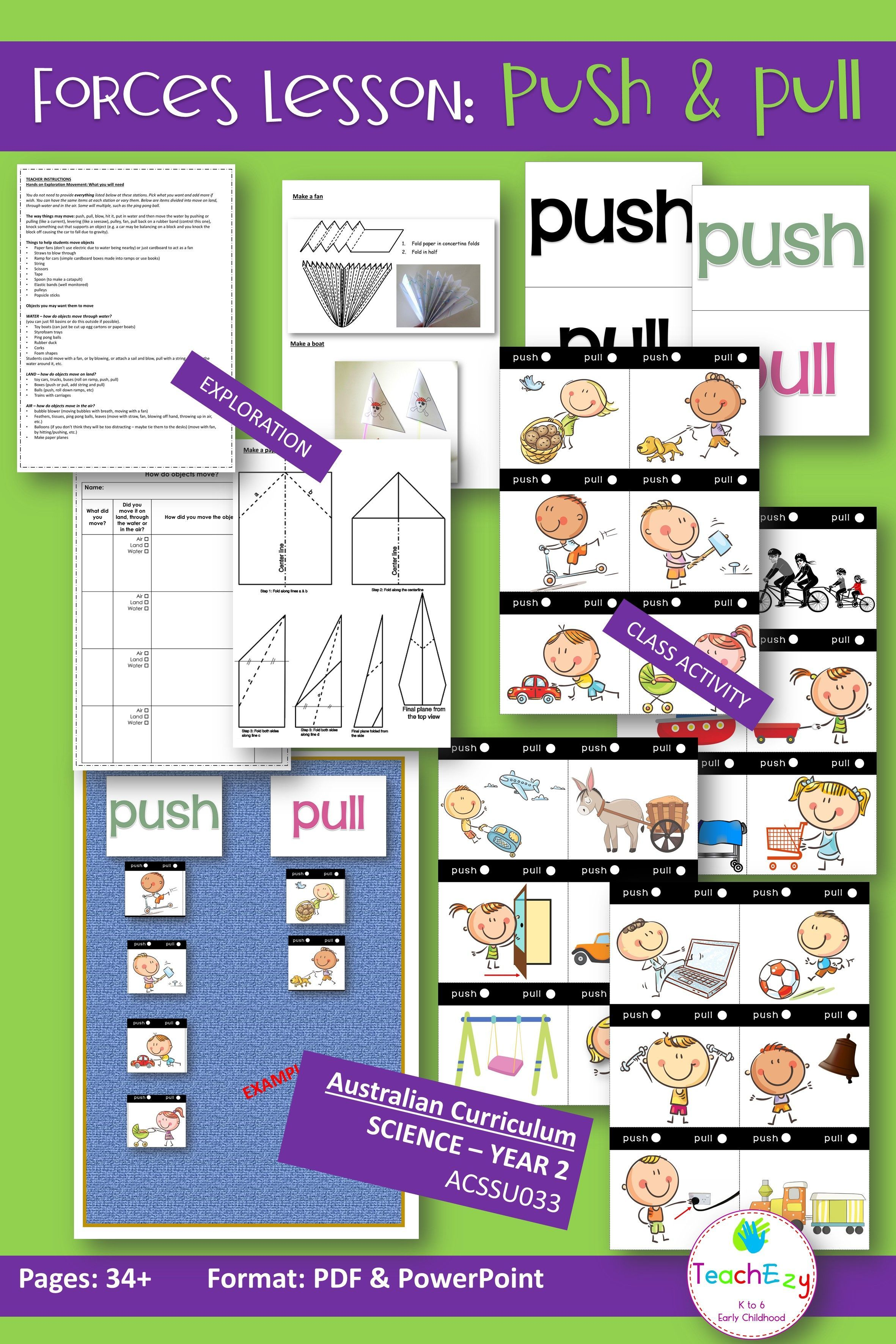 Forces Lesson Push And Pull