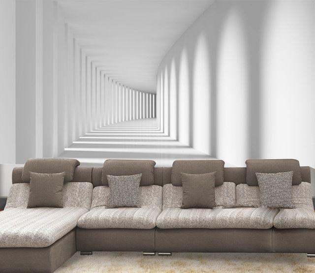 livraison gratuite seamless 3d tridimensionnelle promenade fresque murale papier peint canap. Black Bedroom Furniture Sets. Home Design Ideas