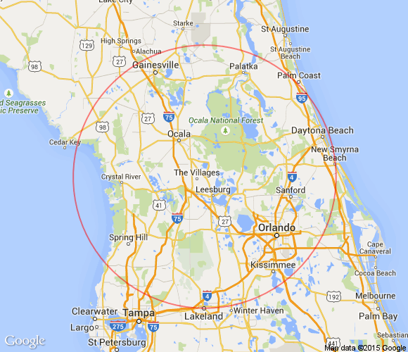 Map Of The Villages Florida.The Villages Florida Day Trips And One Tank Trips 100 Miles Or Less