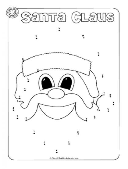Santa Claus Alphabet dot to dot Preschool christmas