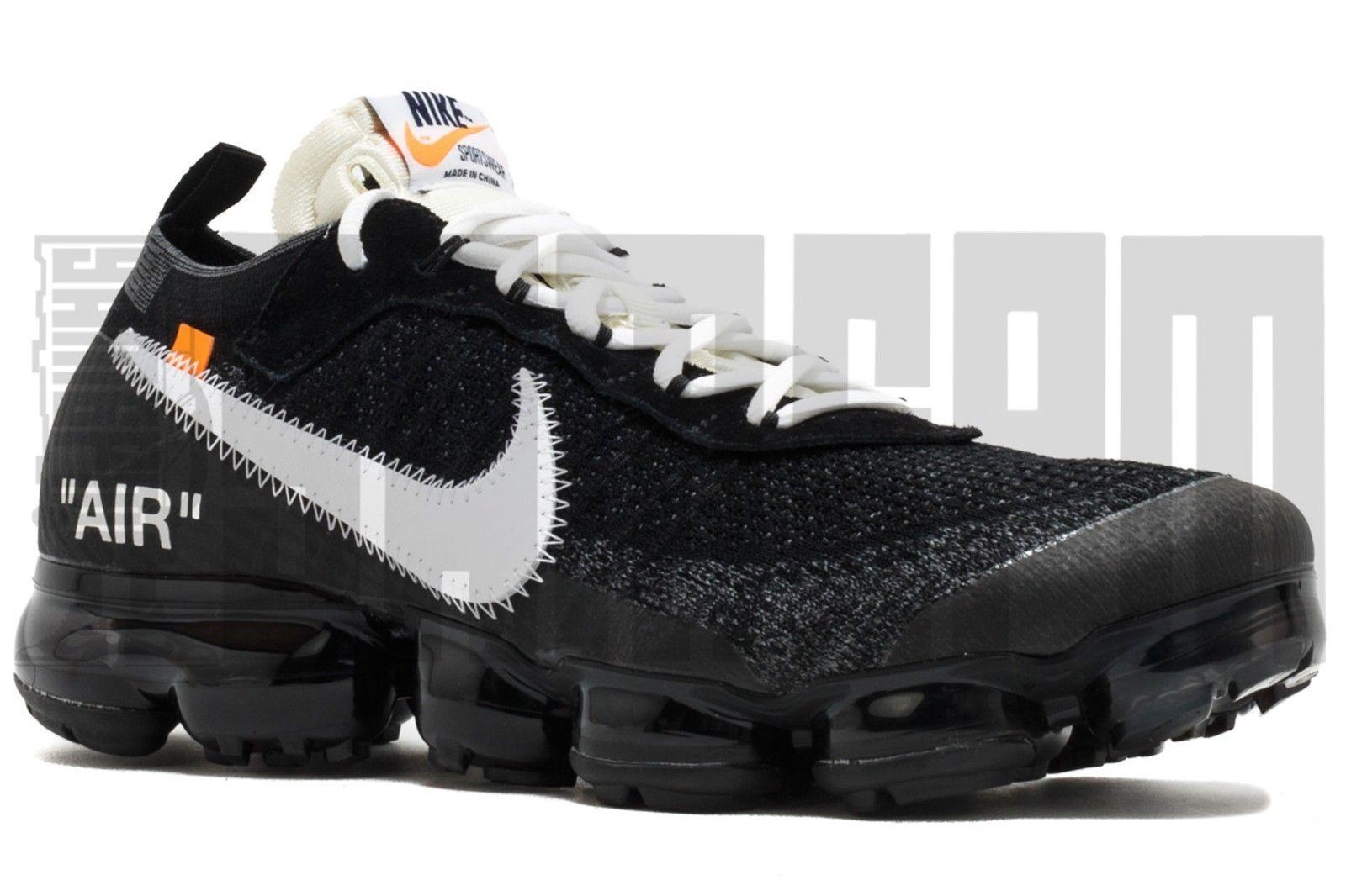 Nike AIR VAPORMAX FLYKNIT OFF-WHITE 7 8 9 10 BLACK WHITE THE TEN offwhite
