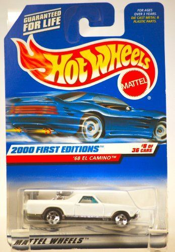 1999 Mattel Hot Wheels 1968 Chevy El Camino White 2000