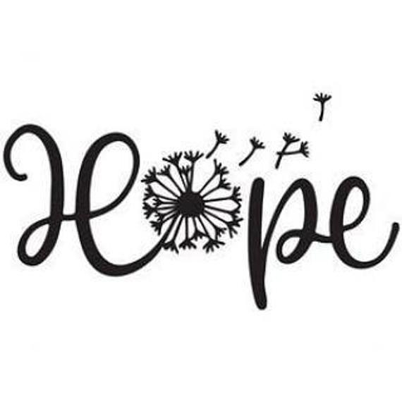 Hope Dandelion firma decalcomanie in vinile per esterni qualsiasi colore per auto, laptap, specchio, tazza, bicchiere