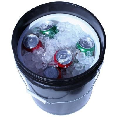 Leaktite 5 Gal Bucket Companion Cooler 12 Pack 211303 The Home Depot Bucket Cooler Homemade Air Conditioner Diy Ice Bucket