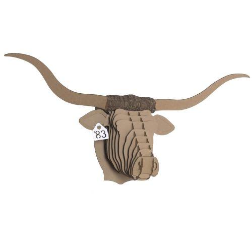 bucky m dium cerf troph e en carton cardboard safari animaux en carton le troph e et carton. Black Bedroom Furniture Sets. Home Design Ideas