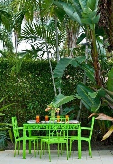 Palm Beach Chic Backyards The Glam Pad Green Backyard