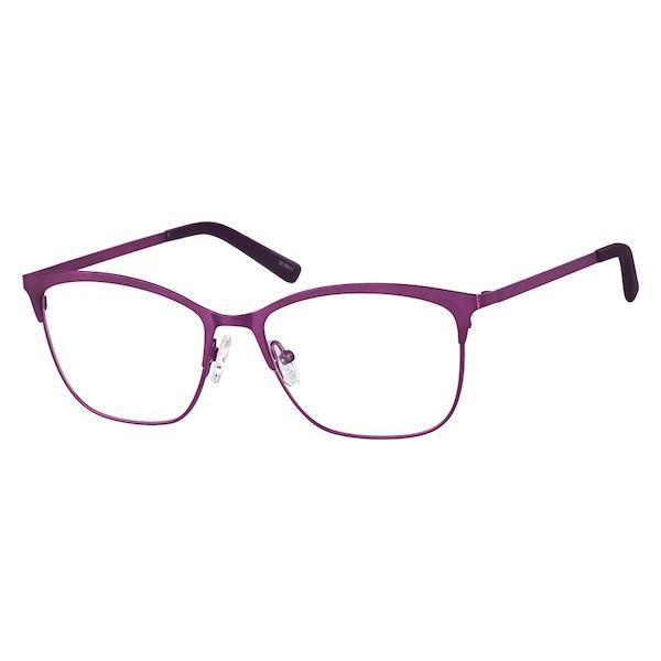 010f2d044e4 Zenni Womens Square Prescription Eyeglasses Purple Stainless Steel 3216817