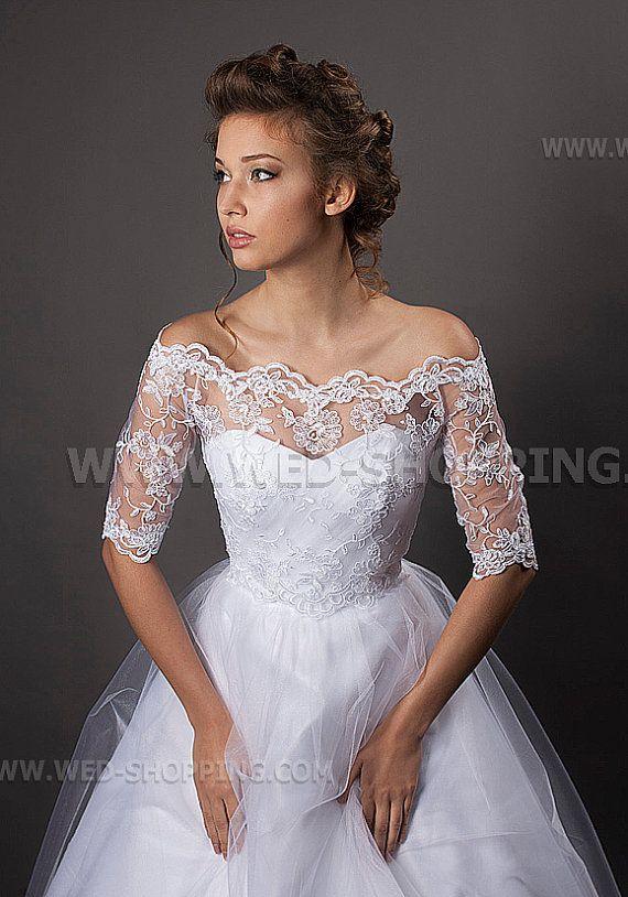 Braut bolero weiß spitze