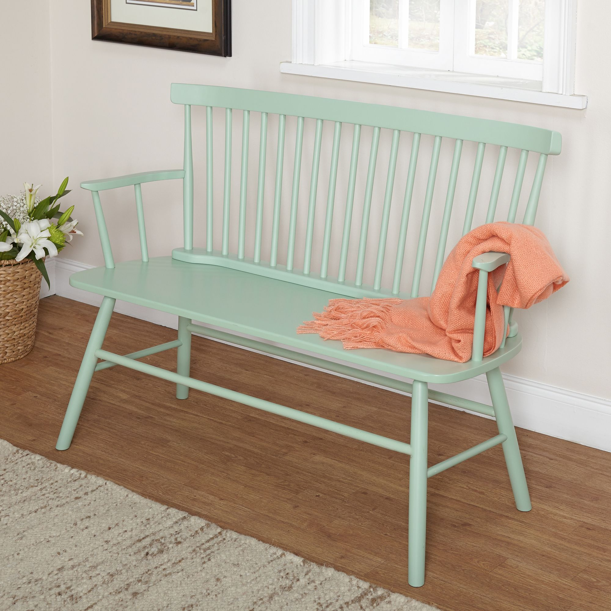 Simple Living Mint Shelby Dining Bench Bench Mint Green