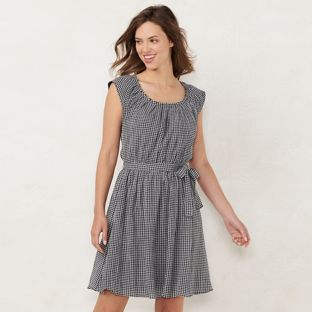 11c29c35c732 NEW! Women's LC Lauren Conrad Pleat Neck Dress, Size: Medium, Black ...
