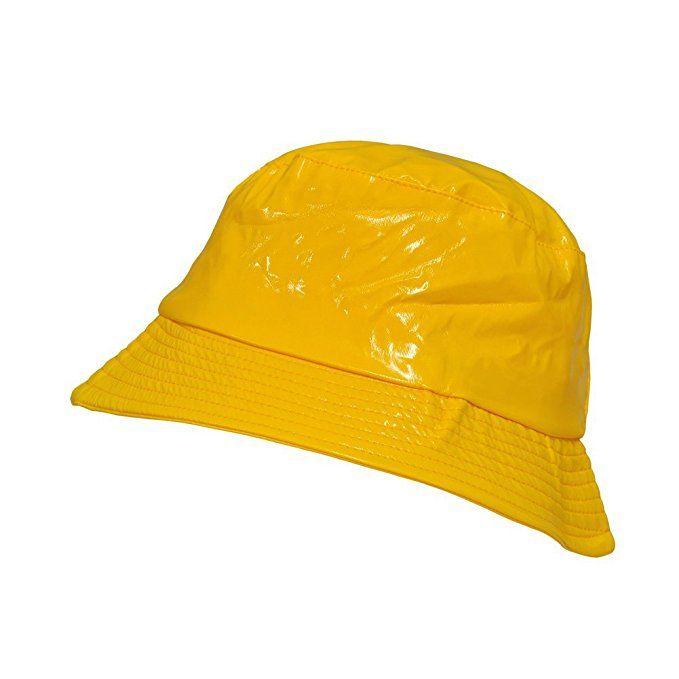 Toutacoo Waterproof Wax Style Bucket Rain Hat 03 Yellow Rain Hat Winter Fashion Hats Women Cap Outfit