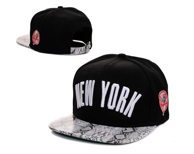 384848191ed MLB New York Yankees Snapback Hats Caps Black White Snakeskin Hats 3765!  Only  7.90USD