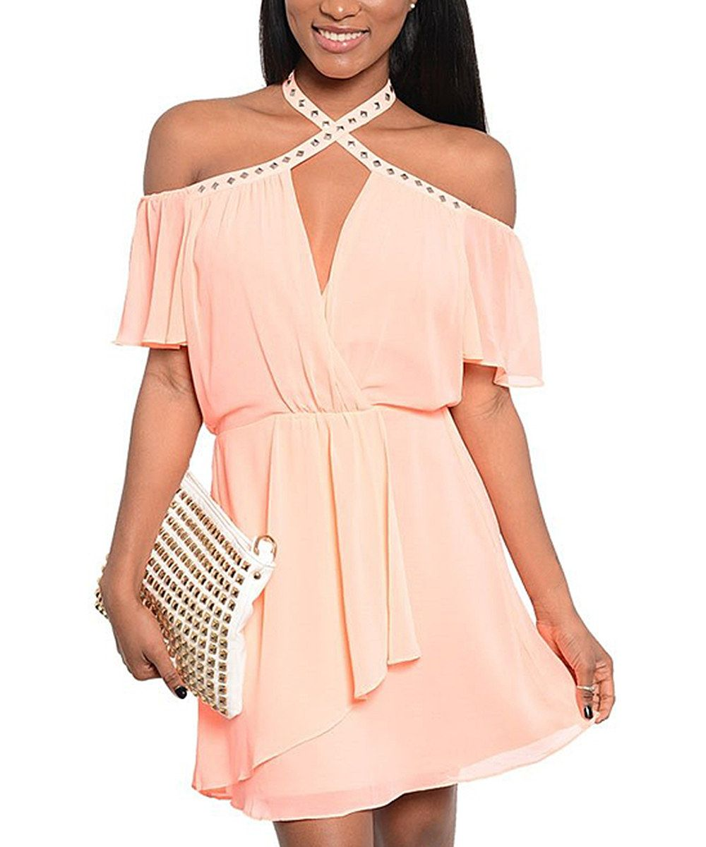 Pink Cutout Dress by The Wholesale Fashion Square